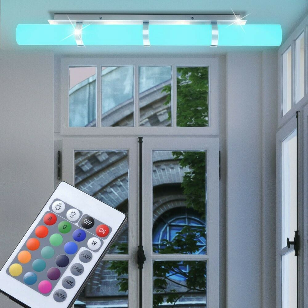rgb led deckenlampe esszimmer wandleuchte dimmer fernbedienung lxbxh 85x9x11 cm eur 71 90. Black Bedroom Furniture Sets. Home Design Ideas