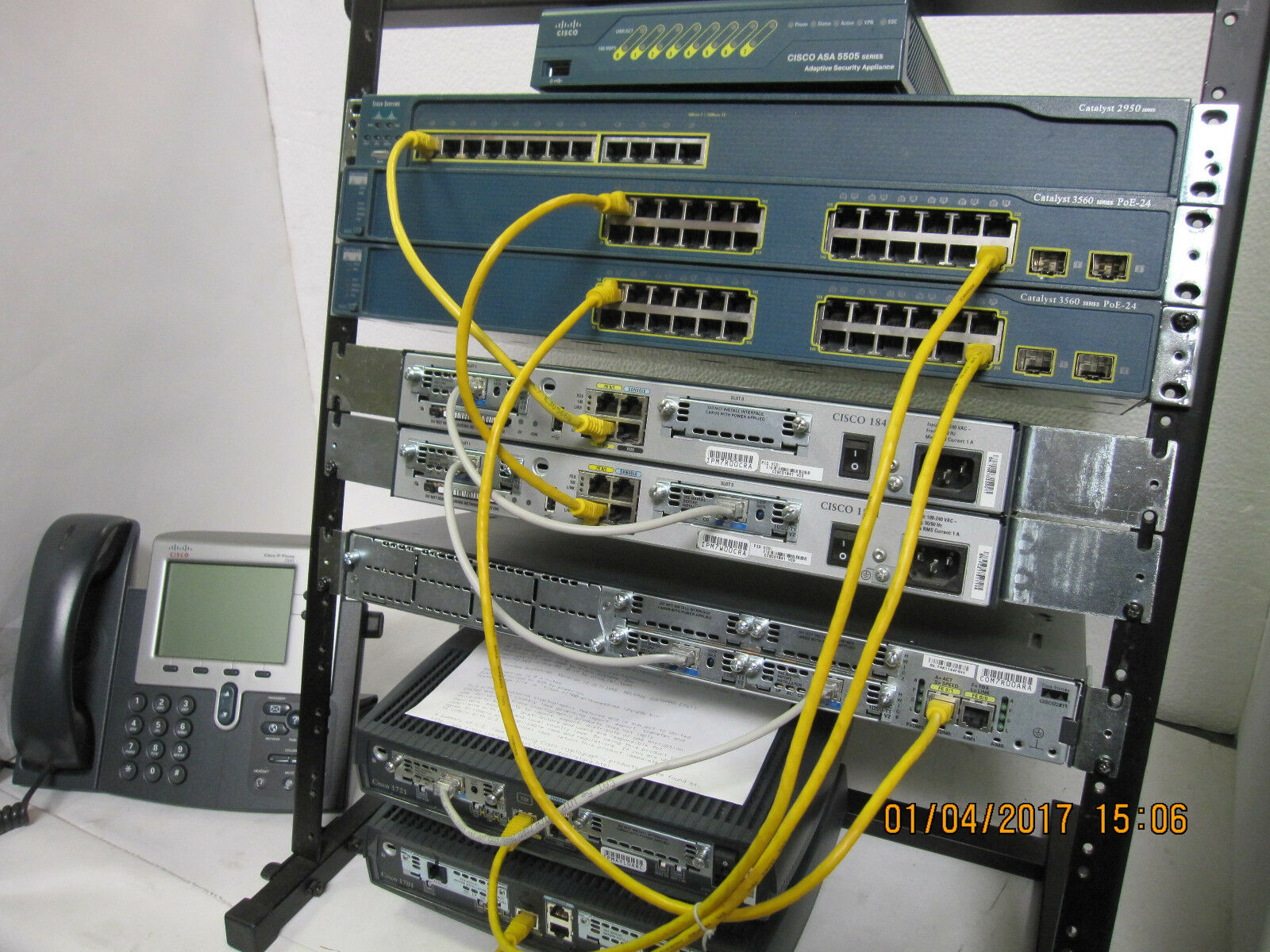 1 Ebay Seller 200 125 Cisco Ccna Ccnp Security Lab Kit Asa5505 Layer How To Configure Intervlan Routing On 3 Switches