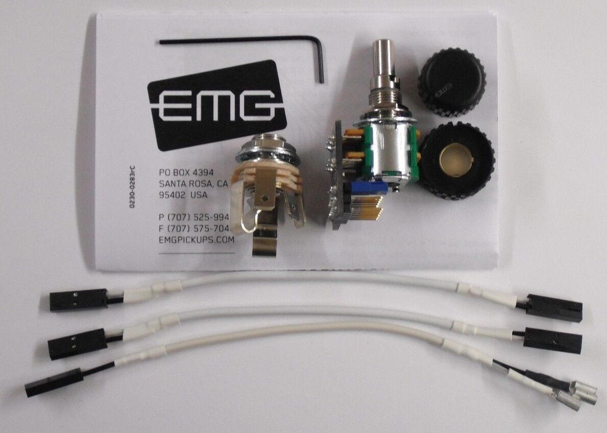 Emg 25kx2 Stacked V T Control Solderless Solid Shaft 25k Kx2 Pot W Hb Wiring Diagram 1 Of 2only 5 Available