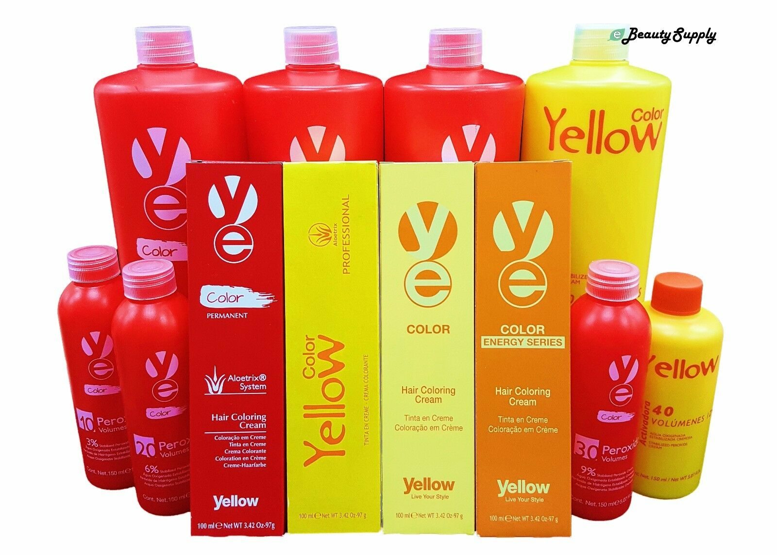 Alfaparf Yellow Aloetrix Permanent Hair Color With A Developer Of