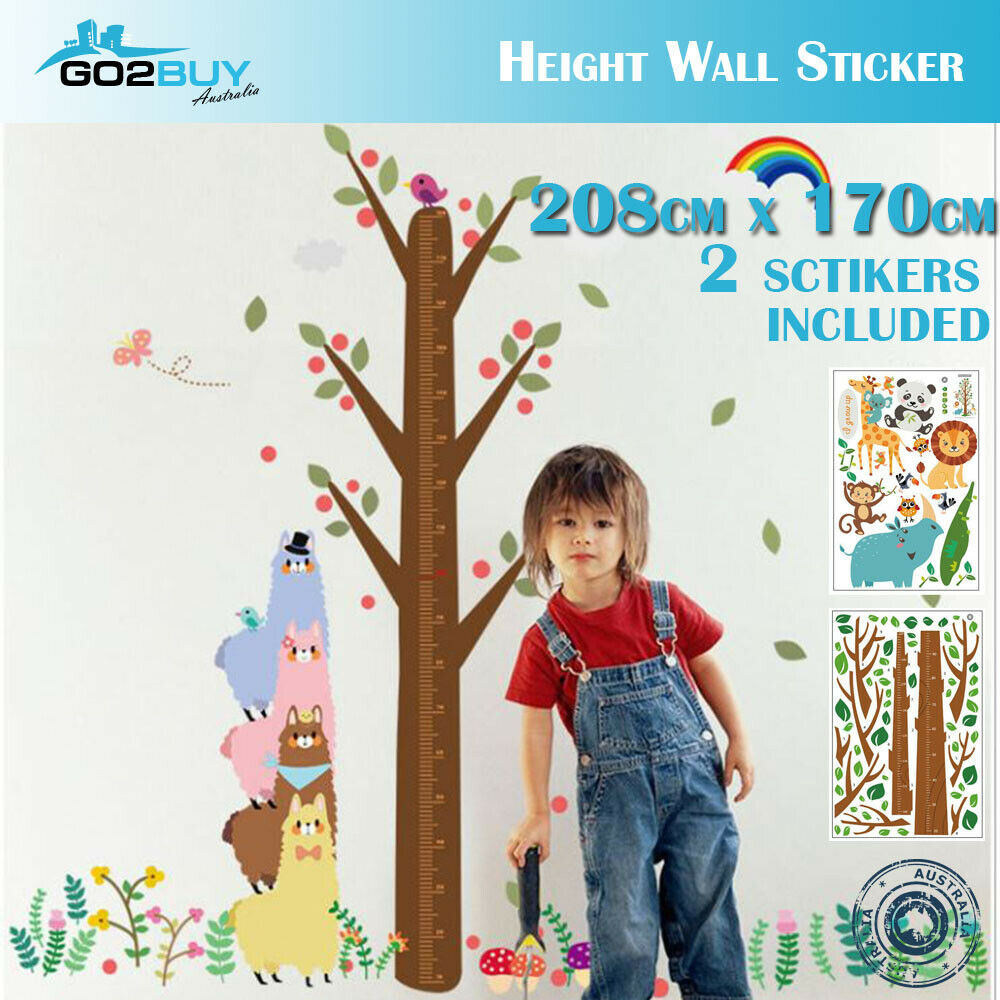 Diy Wall Stickers Removable Dinosaur Height Kids Mural Decal Growth