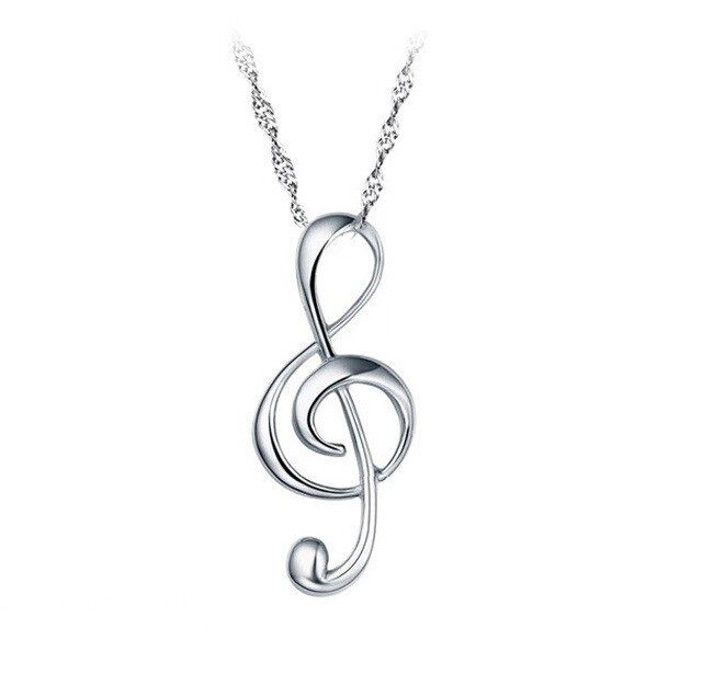 Sterling Silver G Clef Pendant Treble Musical Note Music Symbol