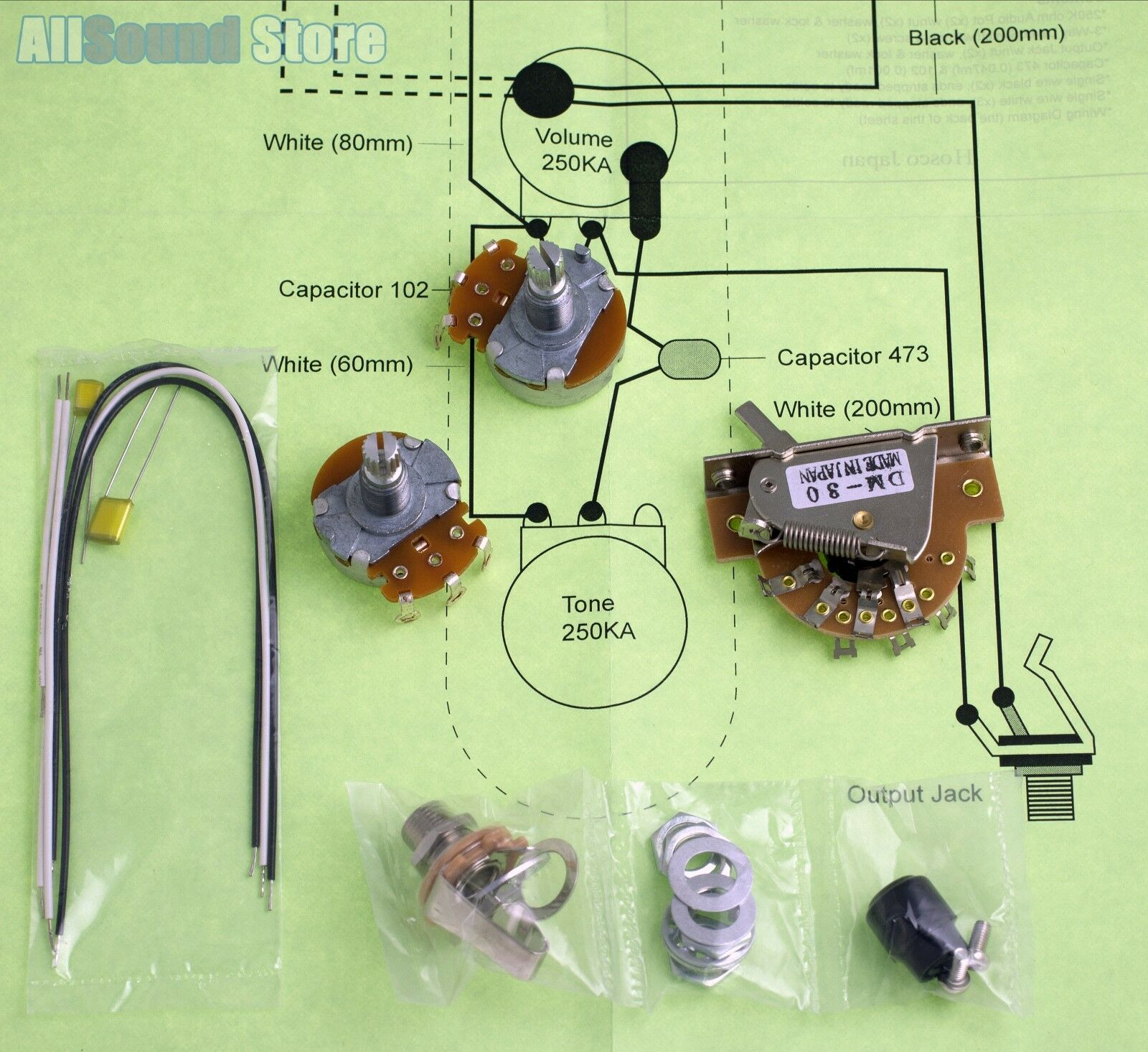 Wiring Kit for Import Fender Telecaster Tele COMPLETE telecaster kit wiring diagram guitars music production home  at creativeand.co