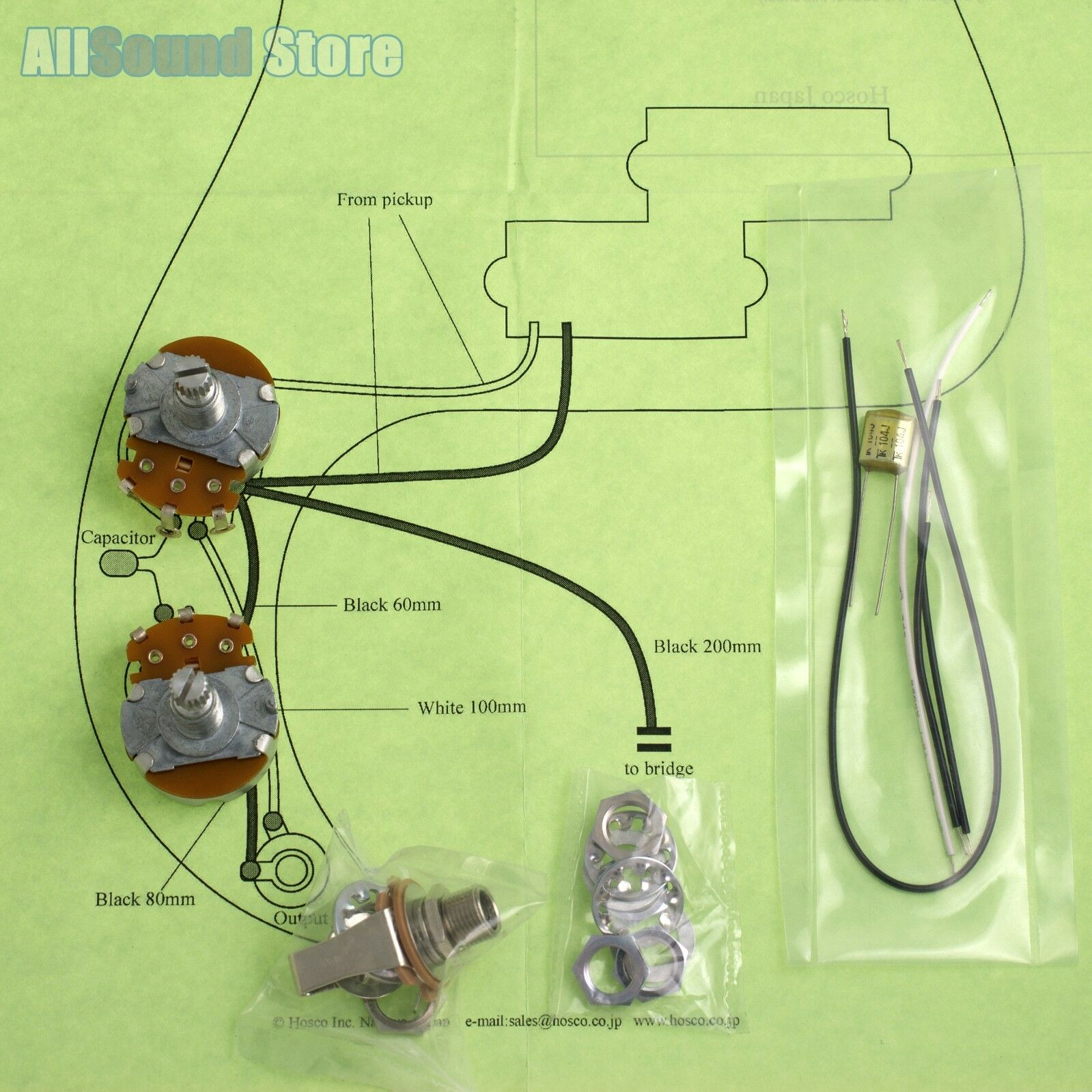Wiring Kit For Import Fender Precision P Bass Complete Diagram Mij Les Paul Made In Japan 1 Of 3only 2 Available
