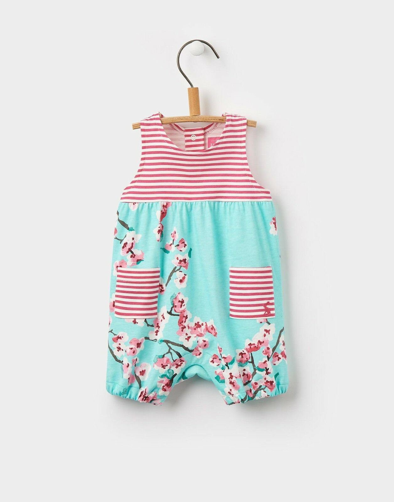 Joules Baby Girls Hotch Potch Romper in Cotton