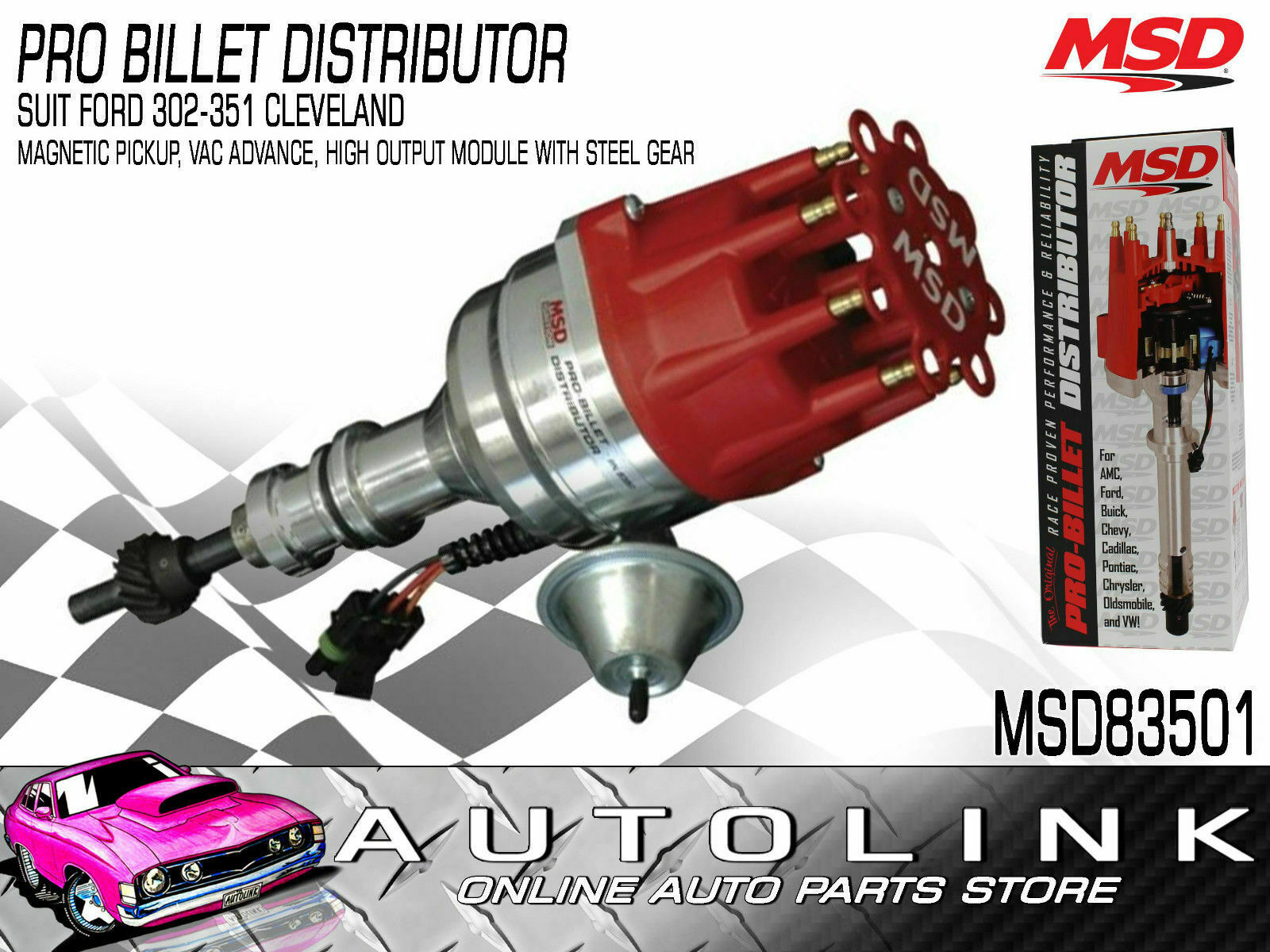 Msd Pro Billet Ready To Run Distributor Ford 302 351ci Cleveland 460 Wiring 1 Of 11 See More