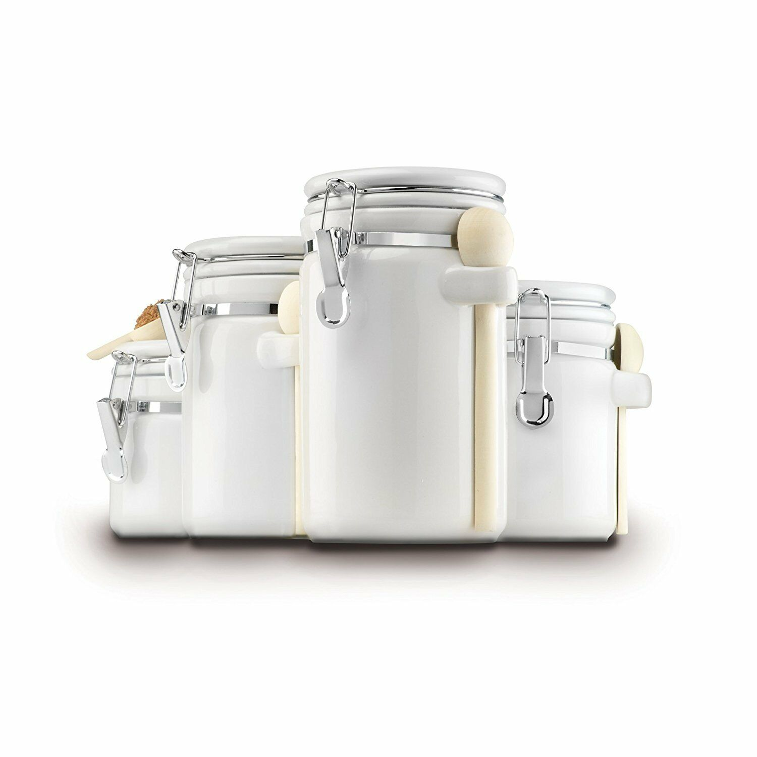 white canister set 4 piece kitchen counter storage containers white canister set 4 piece kitchen counter storage containers flour sugar and