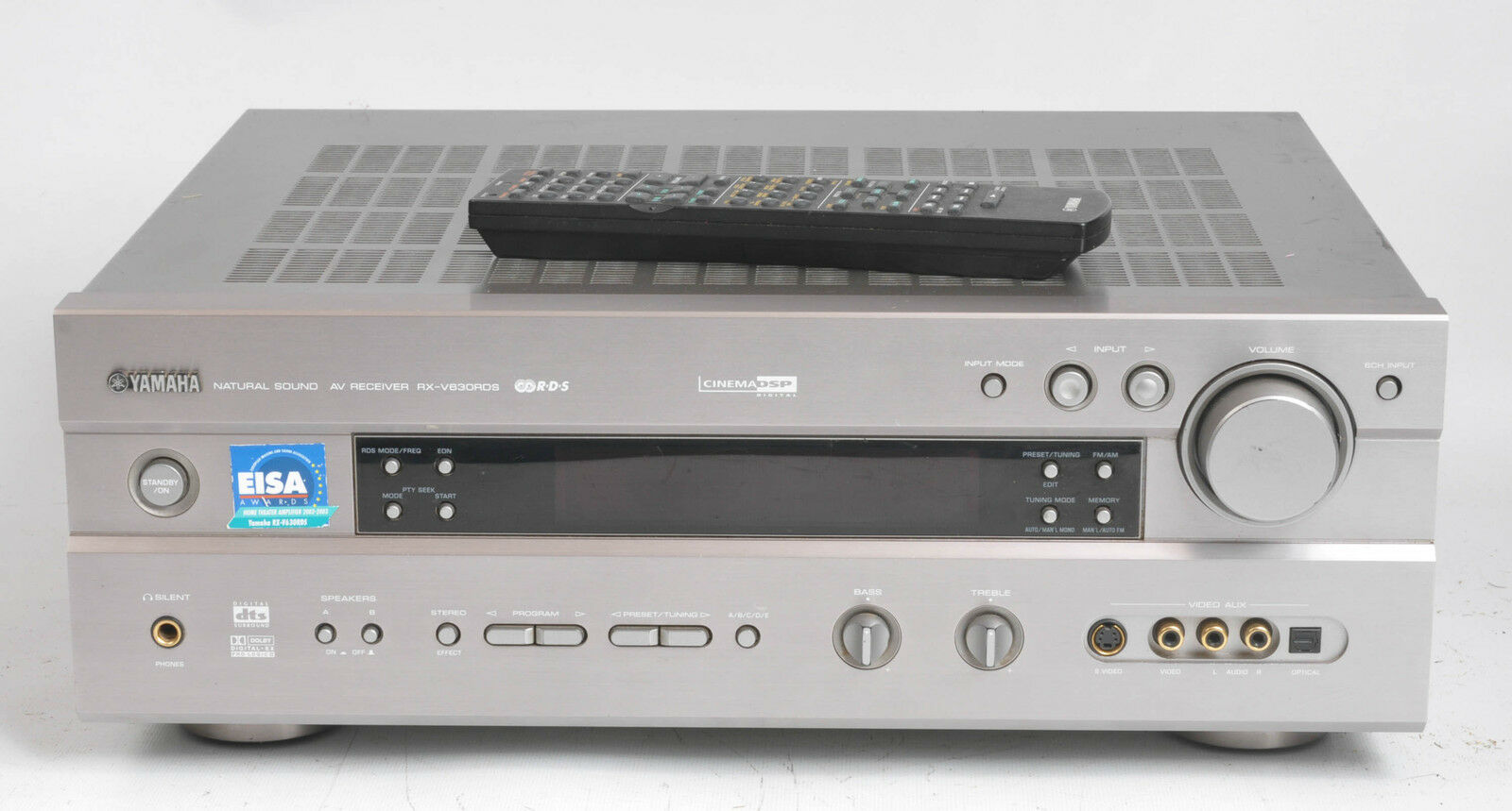 Yamaha rx v630rds av surround receiver 6 1 channel home for Yamaha amplifier receiver