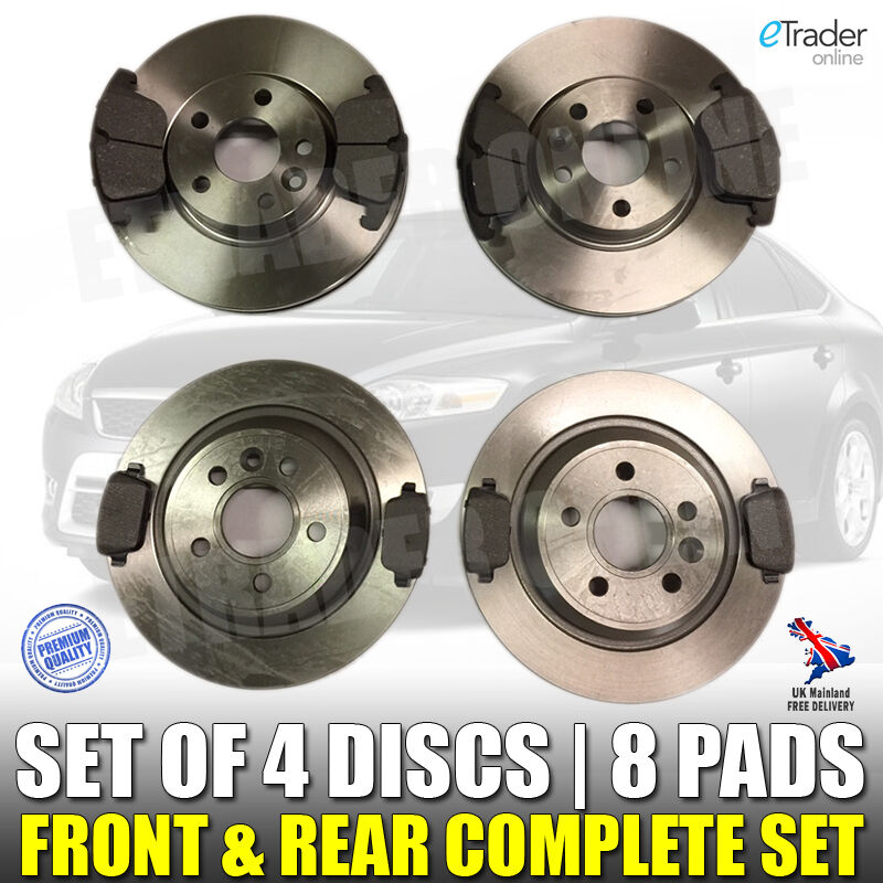 ford mondeo mk4 brake discs and pads 2007 2015 2 0 tdci front rear set picclick uk. Black Bedroom Furniture Sets. Home Design Ideas