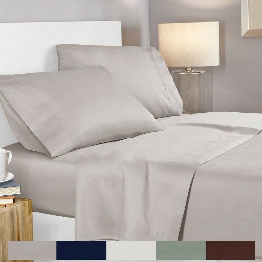 100% Egyptian Cotton 400 Thread Count 4 Piece Deep Pocket Bed Sheet Set 1  Of 1FREE Shipping ...
