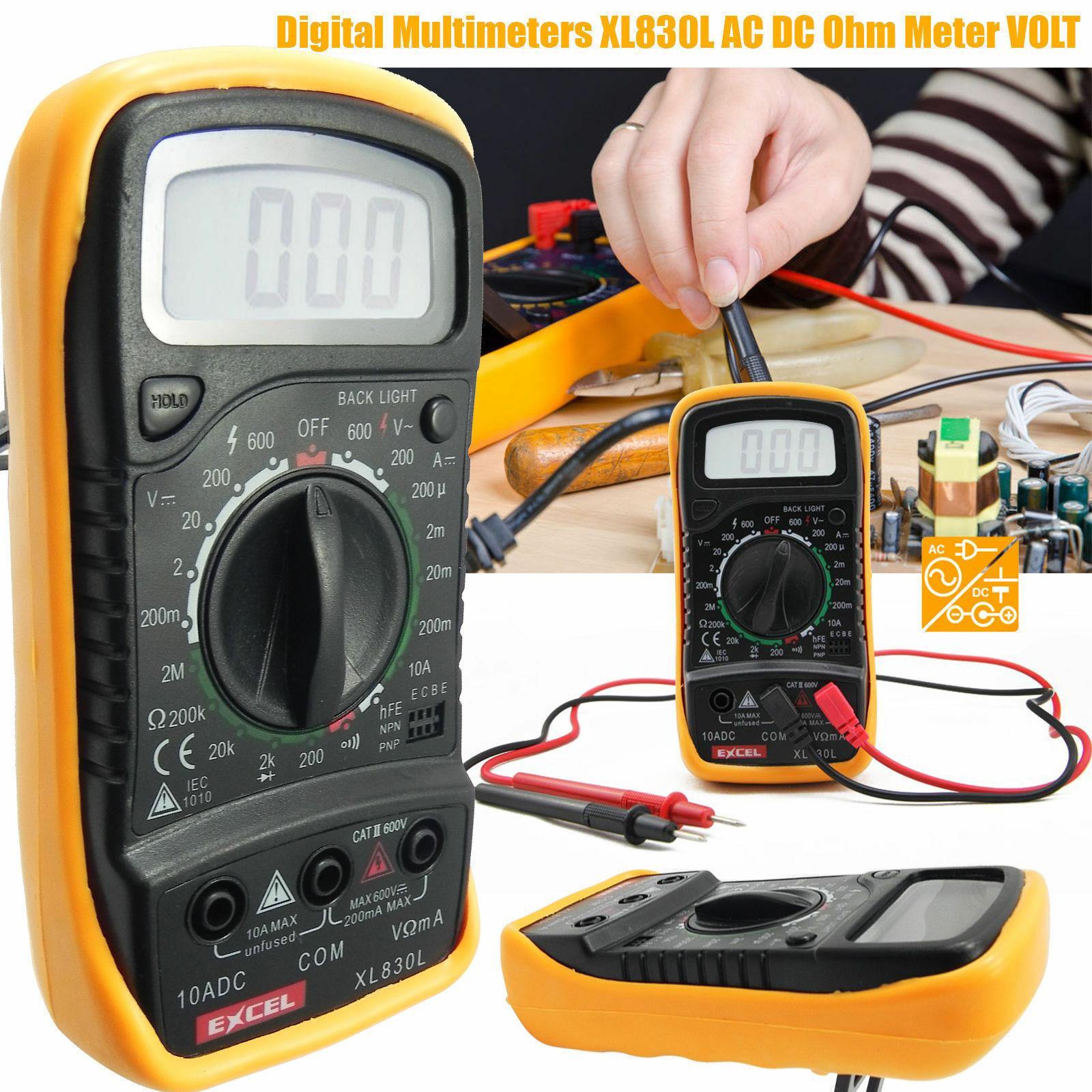 how to check open circuit with multimeter