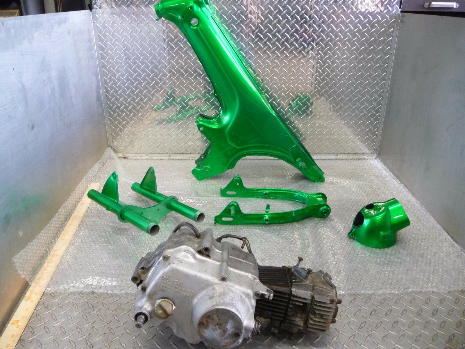 Honda Ct70 Ct 70 H Ct70h Frame Swingarm Triple Trees Forks Engine 1970 303 1 Of 12only Available