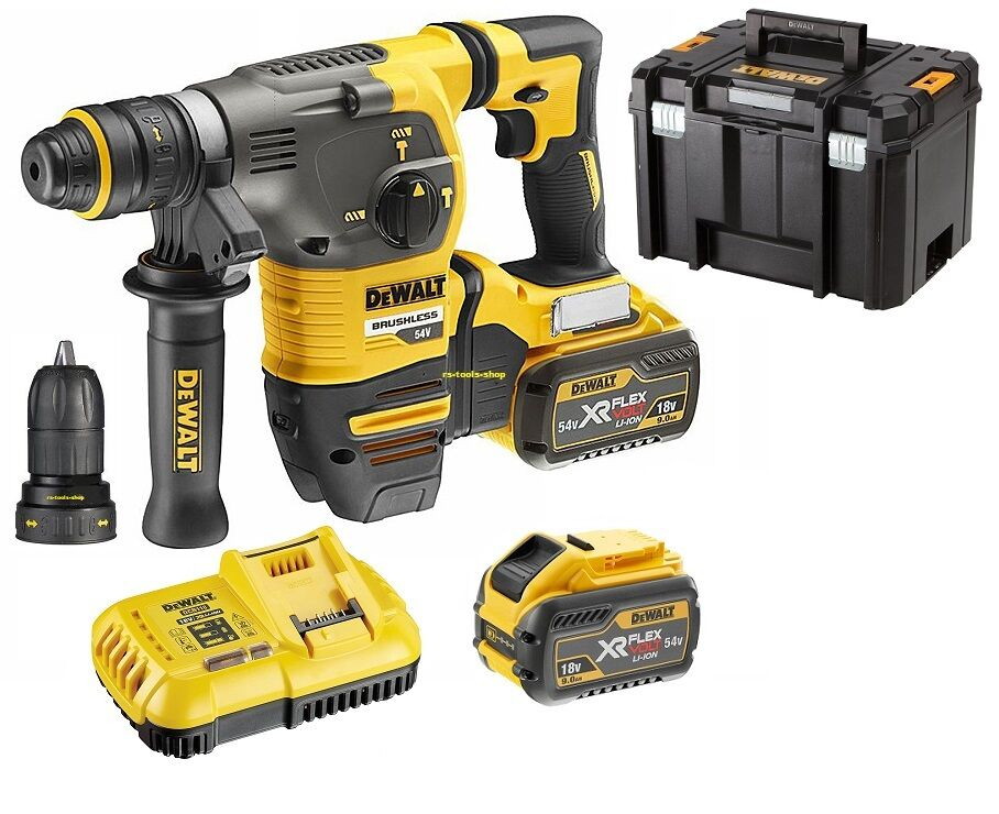dewalt dch334x2 xr 54v flexvolt kombihammer bohrhammer 2x 54v 3ah 18 v 9 0ah eur 775 49. Black Bedroom Furniture Sets. Home Design Ideas