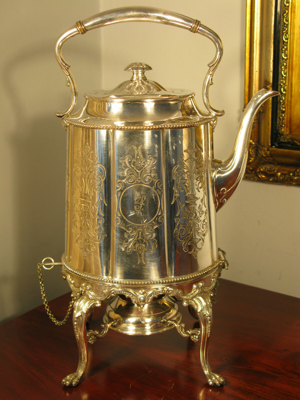 Spirit Kettle Silver Huge James Dixon Sheffield Antique ...