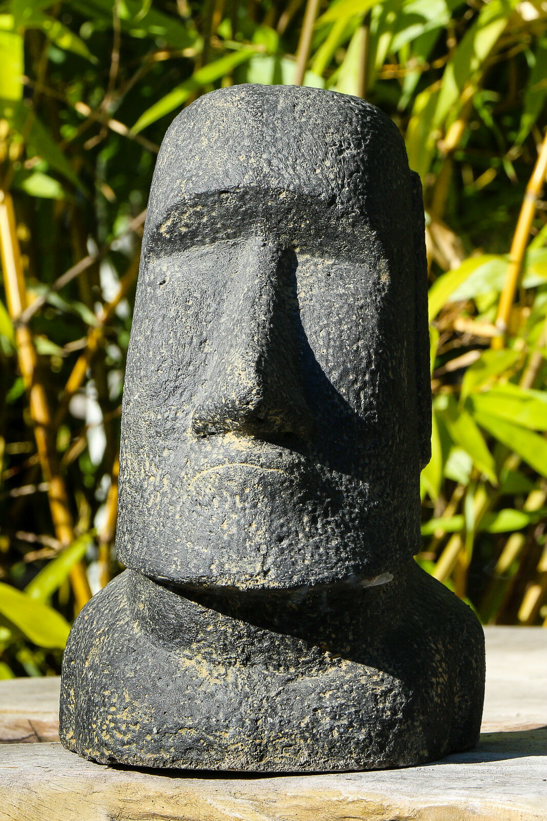 moai rapa nui tiki osterinseln lavastein statue skulptur dekoration garten deko eur 145 00. Black Bedroom Furniture Sets. Home Design Ideas