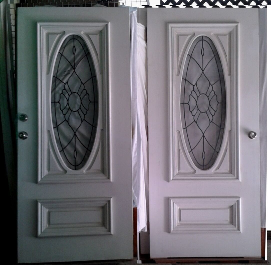 Leadlight double entrance doors solid core extra wide Extra wide front doors