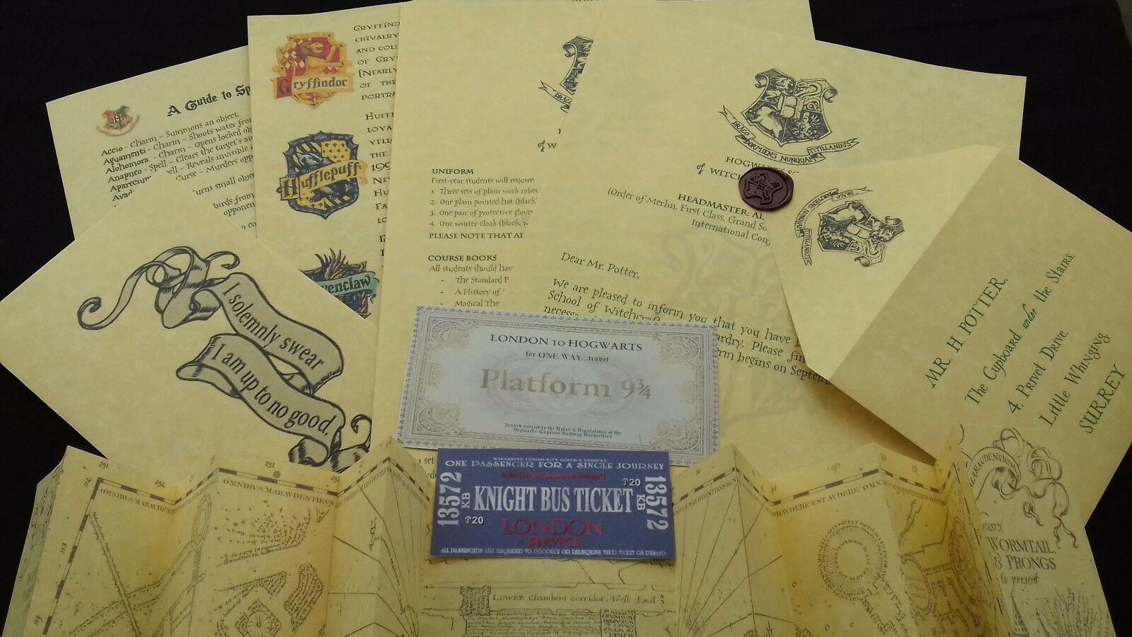 Personalised Hogwarts Acceptance Letter Set Harry Potter