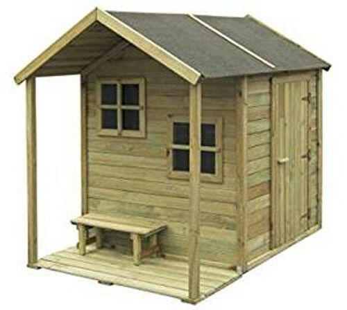 kinderspielhaus 2 wahl spielhaus kinderhaus spielanlage garten holz gartenhaus eur 249 00. Black Bedroom Furniture Sets. Home Design Ideas