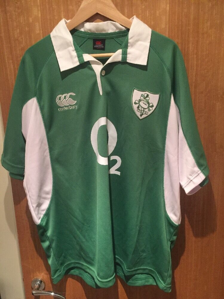 Genuine IRELAND CANTERBURY RUGBY JERSEY SHIRT SIZE XL (V.G ...