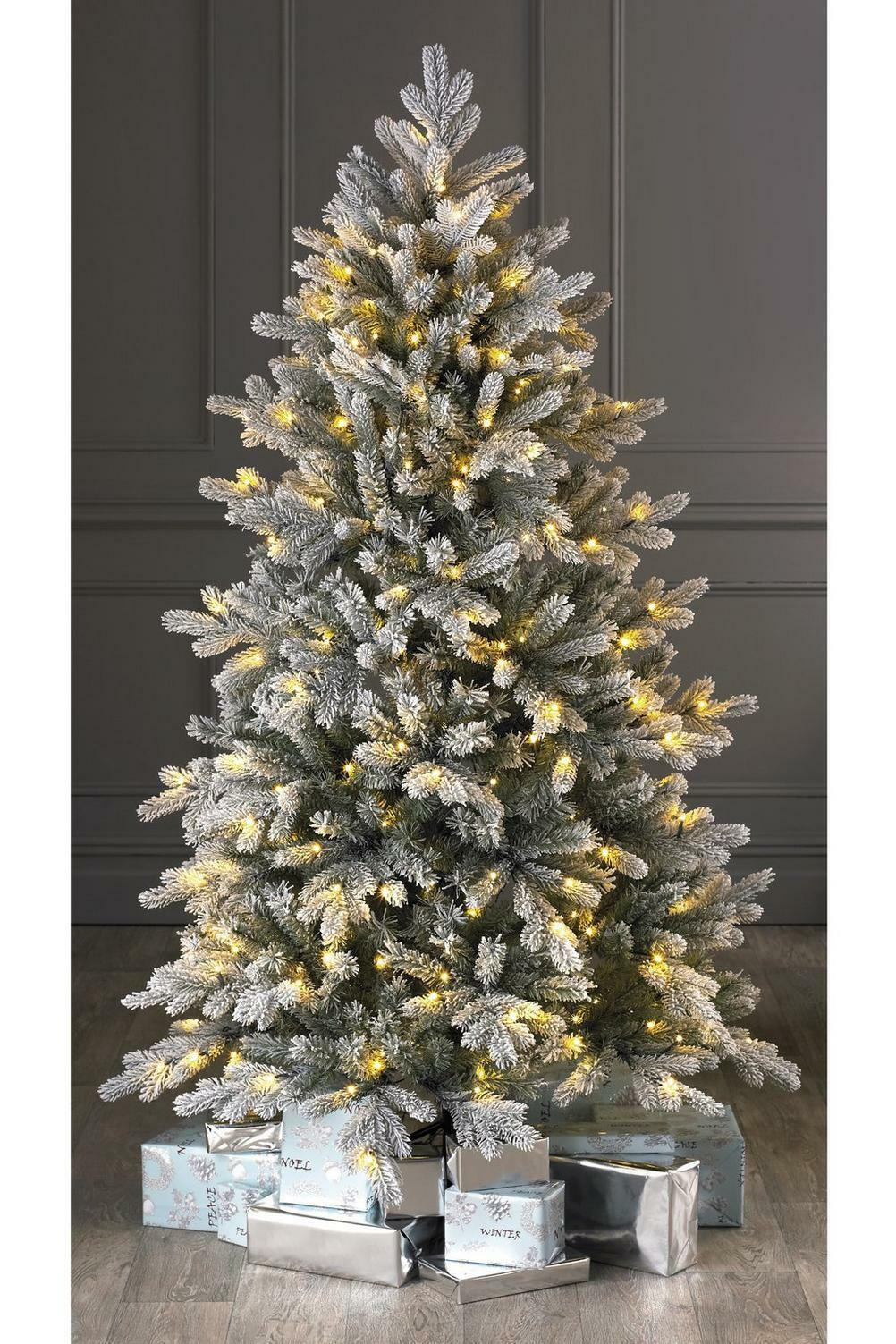 Luxury 6ft Green Frosted Spruce Christmas Tree Pre Lit