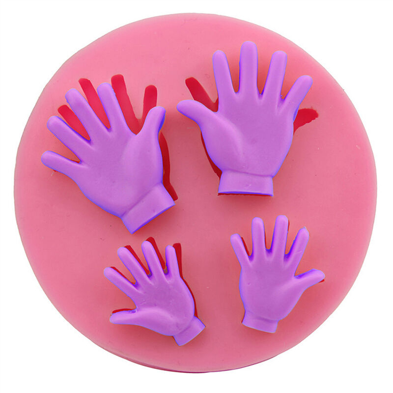 3D Human Hand  Silicone Fondant Mold Cake Decoration Tools DIY Chocolate Mould