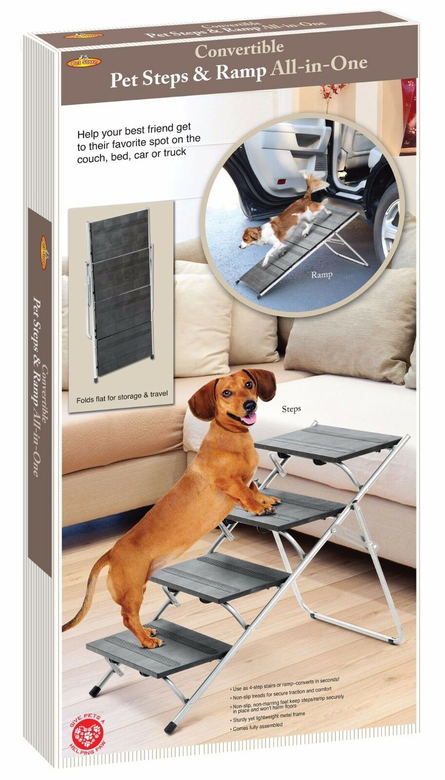 Folding Pet Steps/Ramp Dog Cat Ramp Bed Stairs Portable Travel Steps Stairs  Car 1 Of 6FREE Shipping Folding Pet Steps/Ramp ...