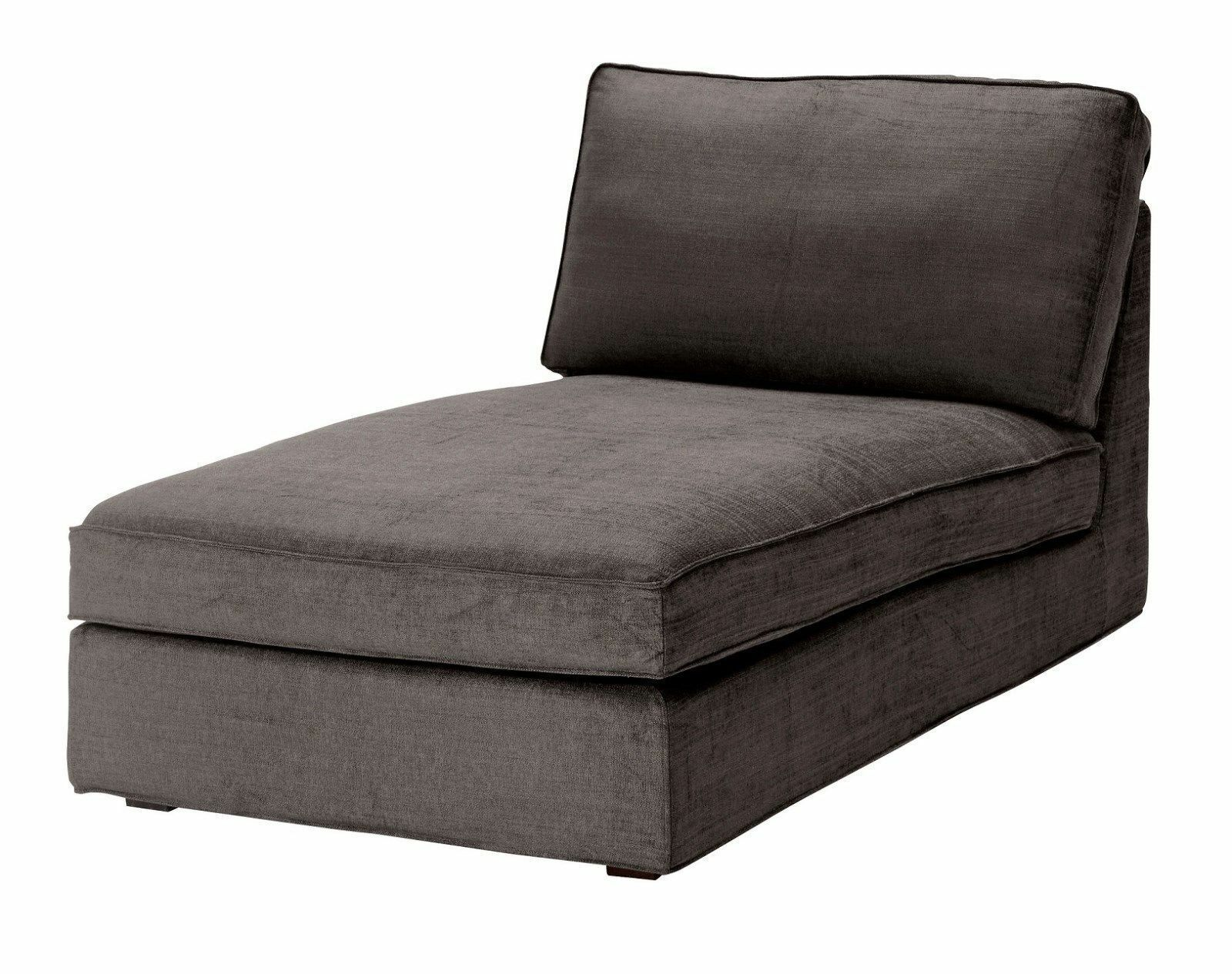 Ikea kivik chaise lounge slipcover cover tullinge gray for Ikea club chair