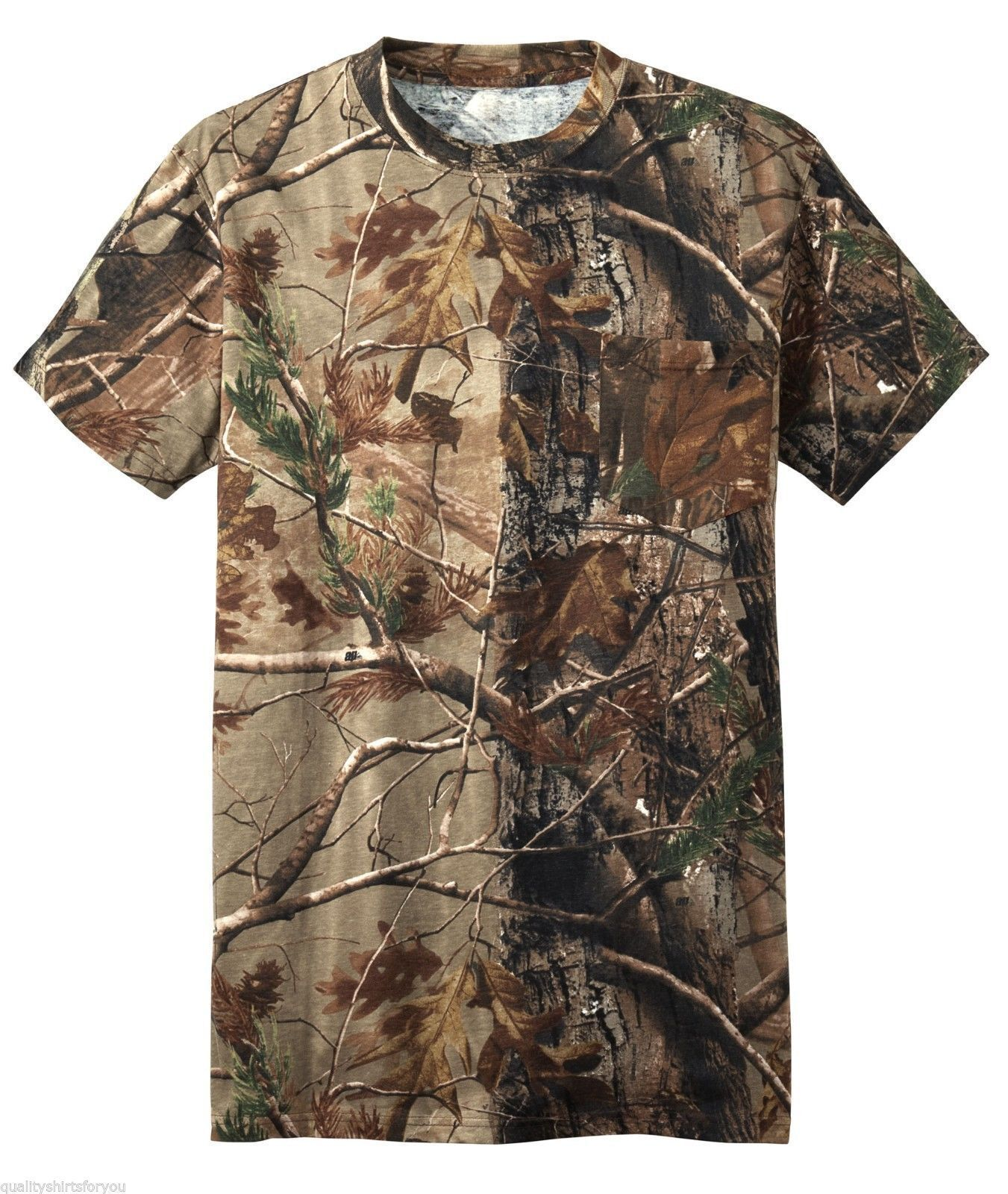 Realtree apg 2xl 50 camo t shirt short sleeve pigeon for Camo fishing shirt