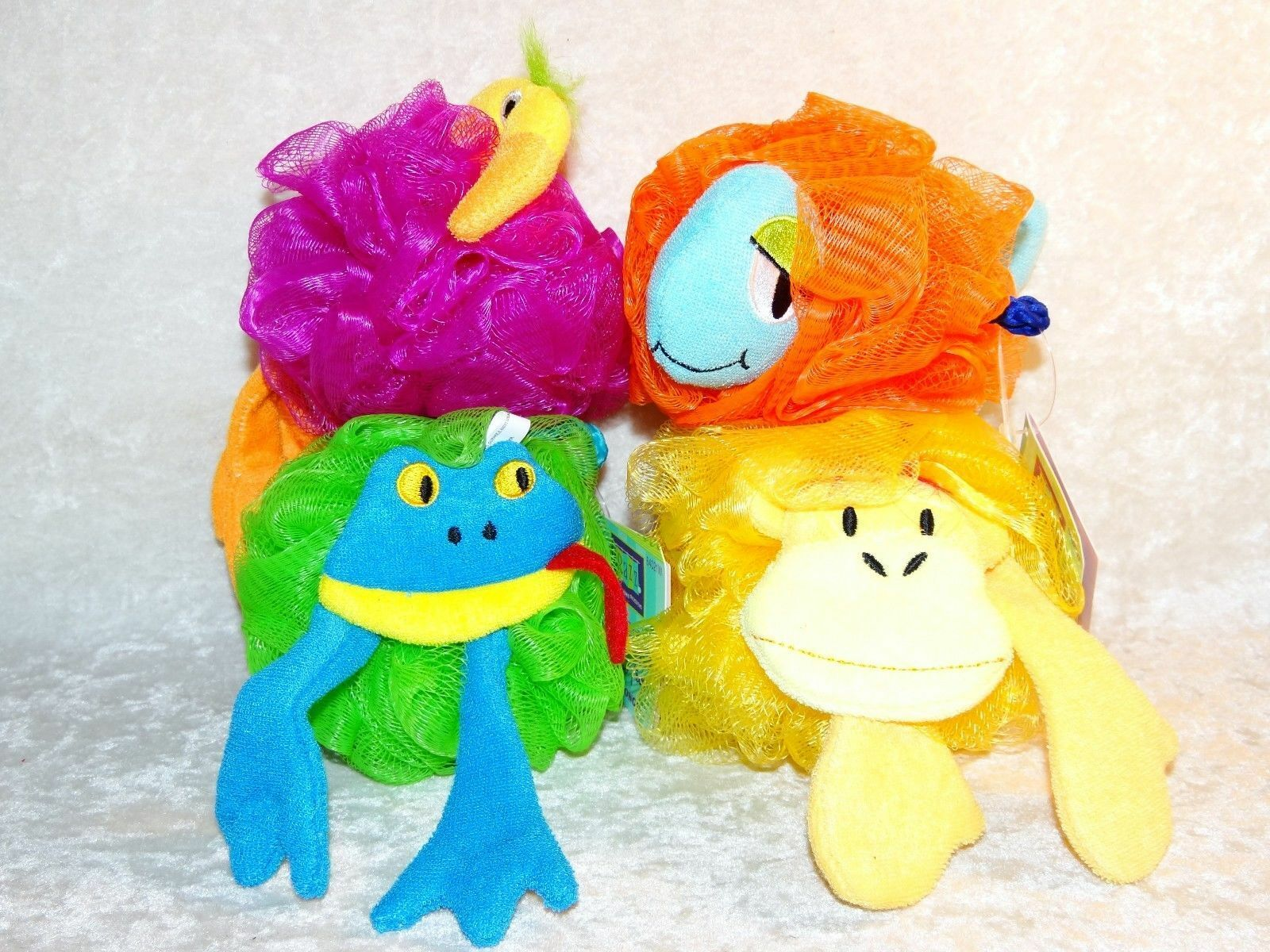 BATH SHOWER KIDS Sponge Net Sponge Fish Monkey Flamingo Frog by Razz ...