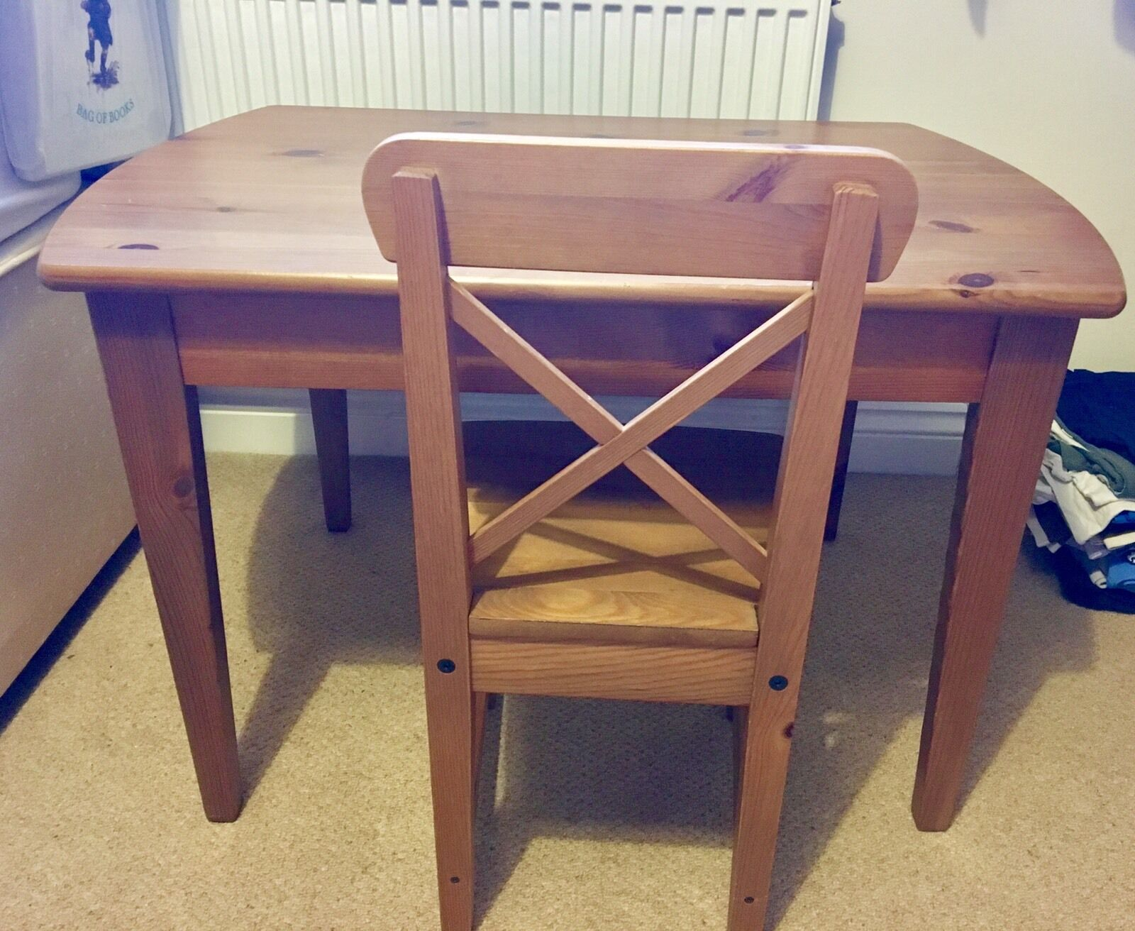 Kids Wooden Table And Chairs • £4 99 Pic UK