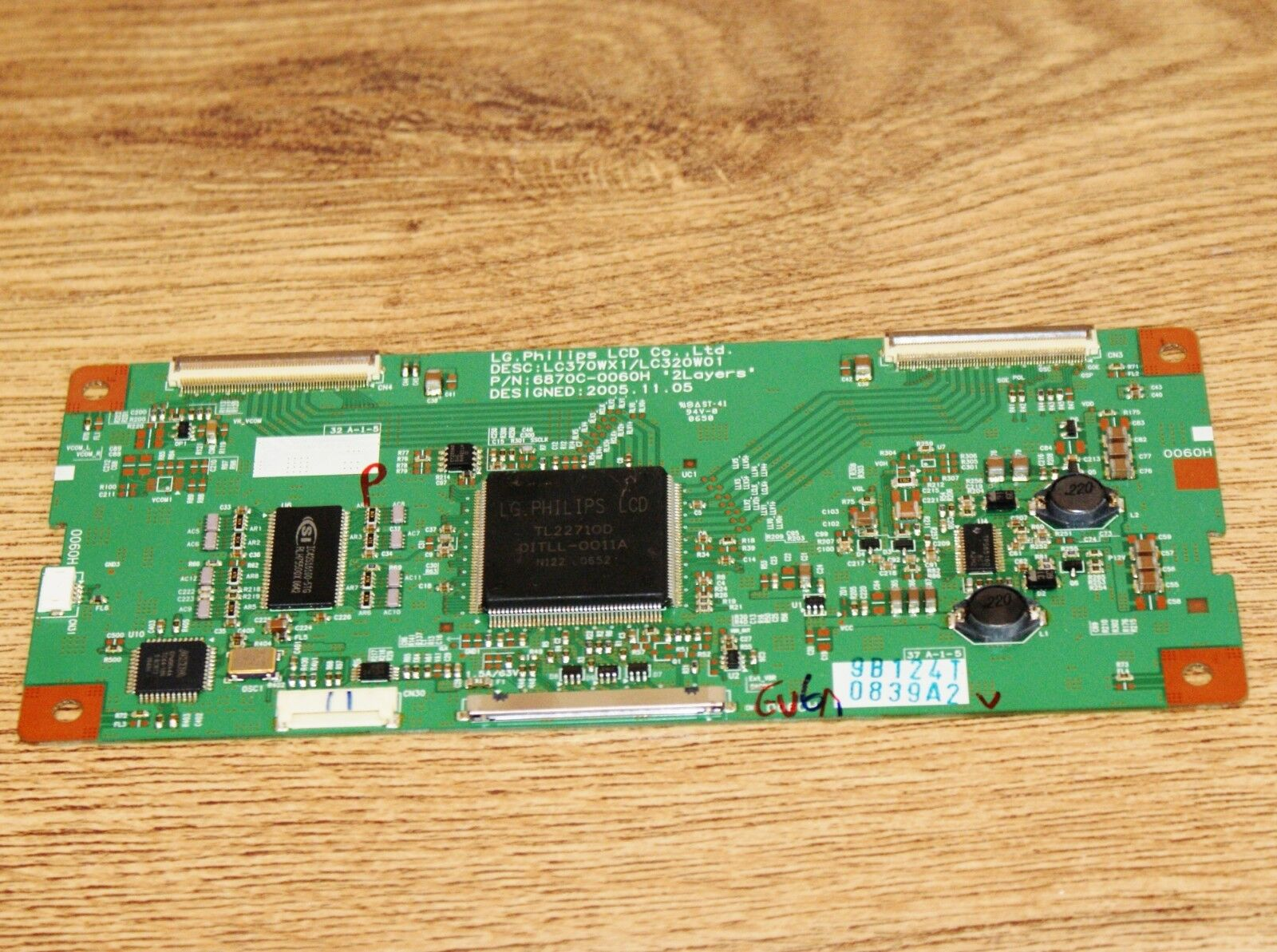 Logic Tcon Lvds Board For 37d8600 37lc2db Rz 37lz55 Tv 6870c 0060h 2005 Lg 50 Inch Plasma Screen Circuit Boards In Back Of 1 1only Available