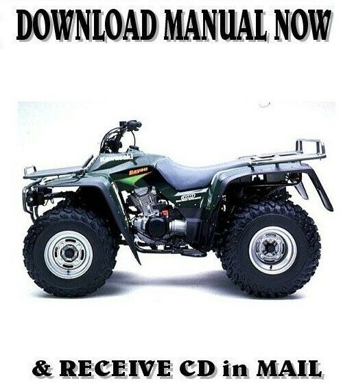 1986 06 kawasaki klf300 bayou factory repair shop service manual on rh picclick com Kawasaki Prairie 360 4x4 Manual Kawasaki KFX 80 Manual