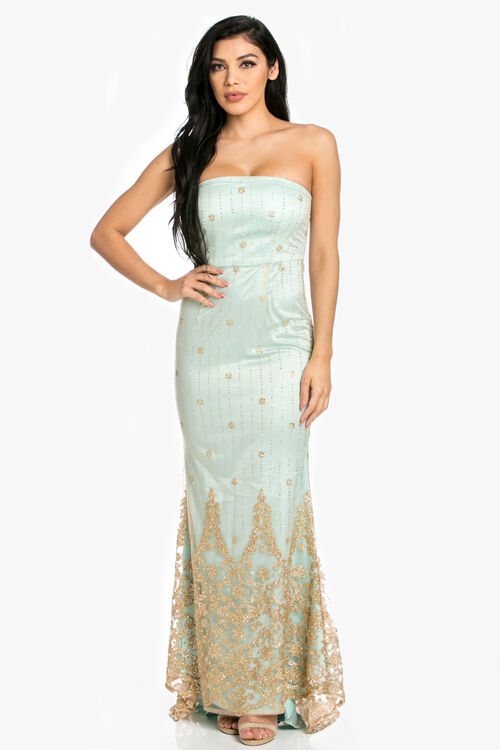 dd6fcaef55b5 Long Mint Mermaid Prom Dress 1 of 5Only 3 available ...