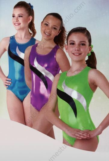 Axis Adult Springboard Fluoro Green Metallic Gymnastic Leotard szPET BNWT (22)
