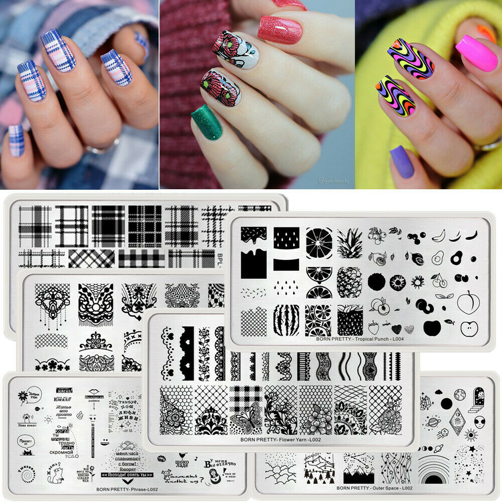 57 PATTERNS NAIL Art Stamping Plates Multi Design Image Stamp ...