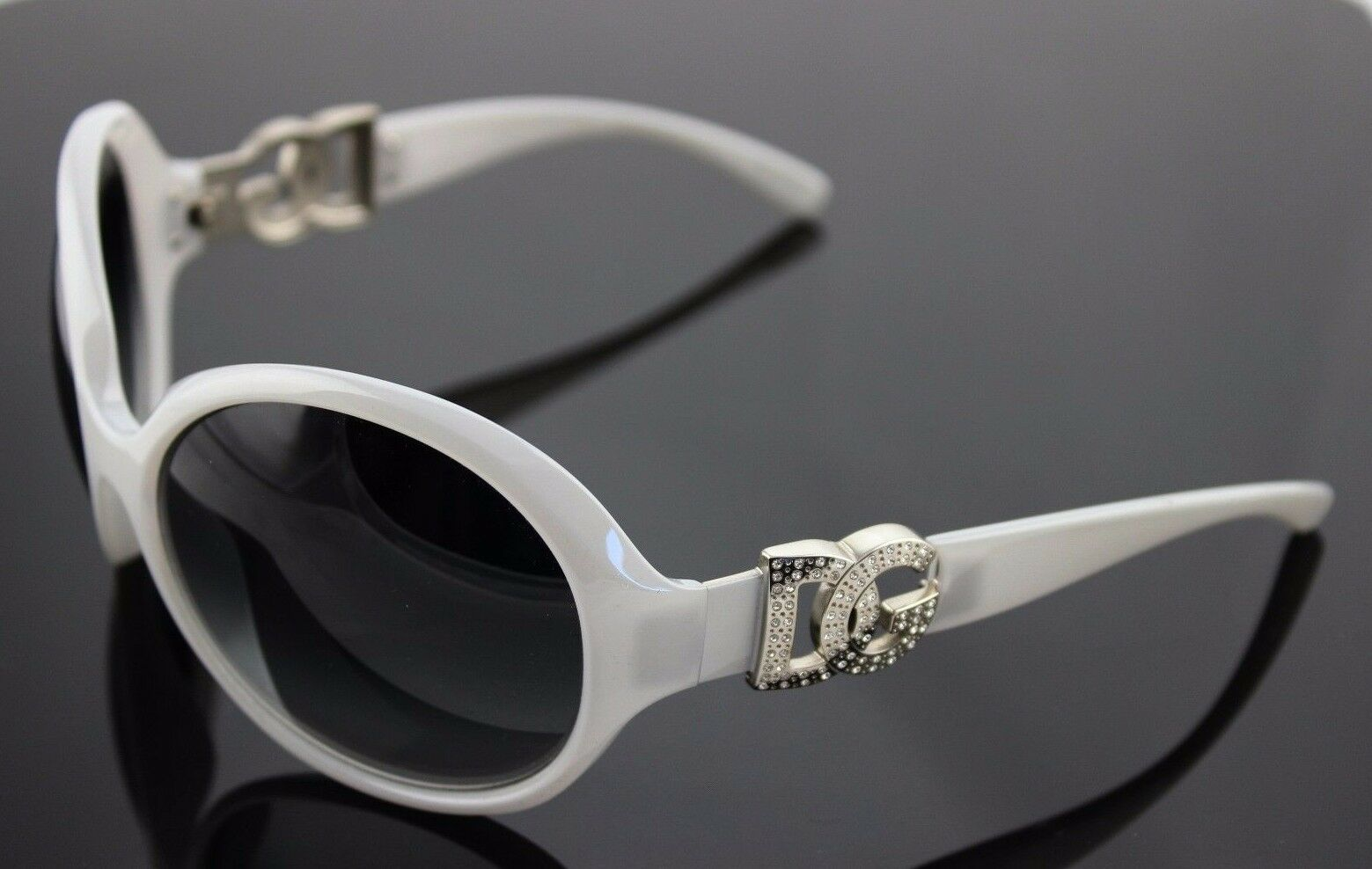 4a1ba24c75 RARE Genuine D G Dolce   Gabbana Pearl Grey Crystal Sunglasses DG 6030 B  694 8G 1 of 9Only 1 available ...