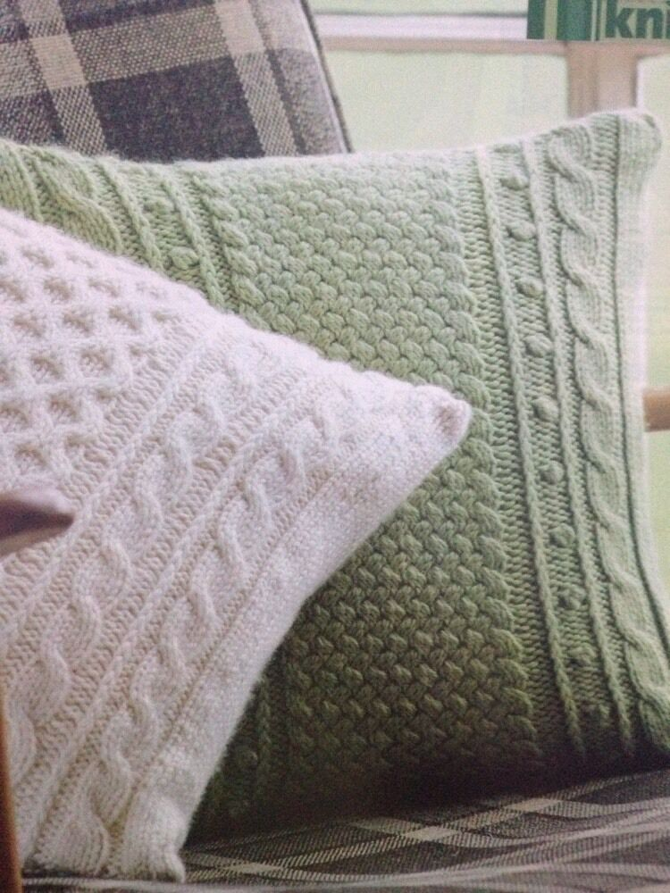 ARAN LATTICE/HONEYCOMB Aran Cushion KNITTING PATTERN - £1.50 ...