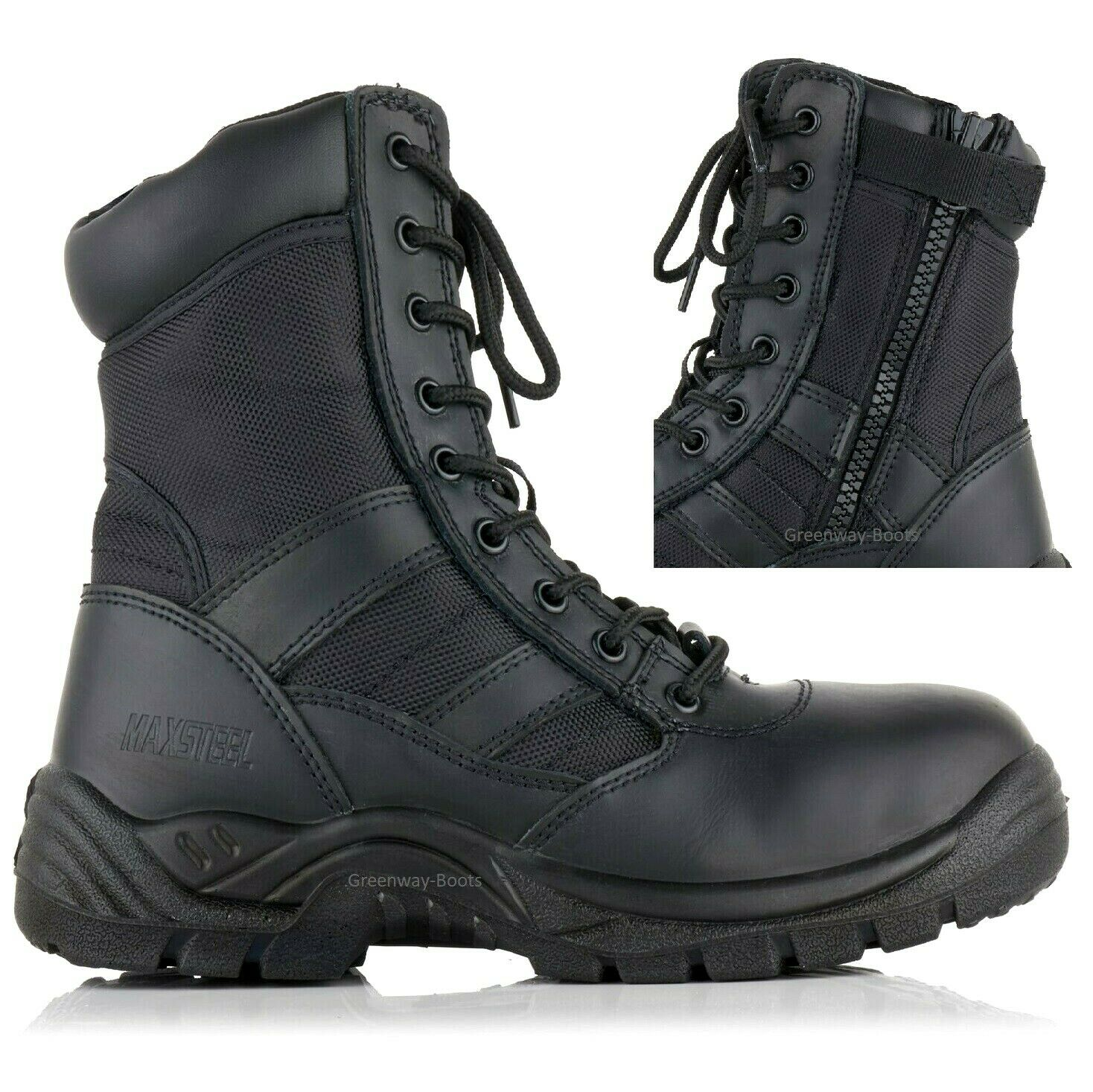 mens leather waterproof lightweight safety