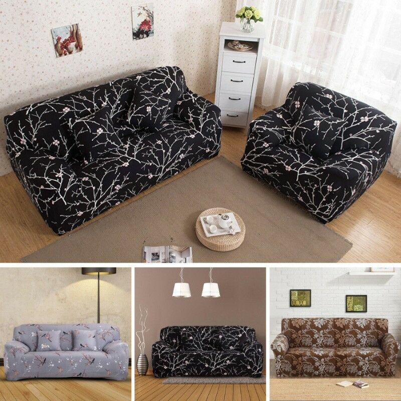 1 2 3 sitzer sofabezug stretch husse sitzbezug sofahusse sofabez ge sesselhuss eur 14 65. Black Bedroom Furniture Sets. Home Design Ideas