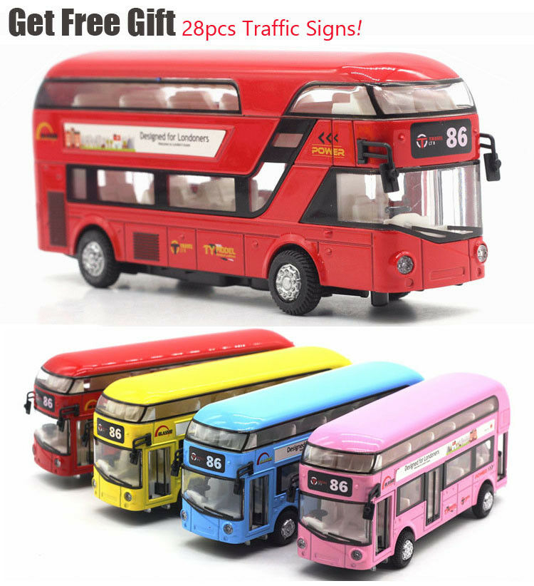 London City Sightseeing Double Decker Tour Bus Toy