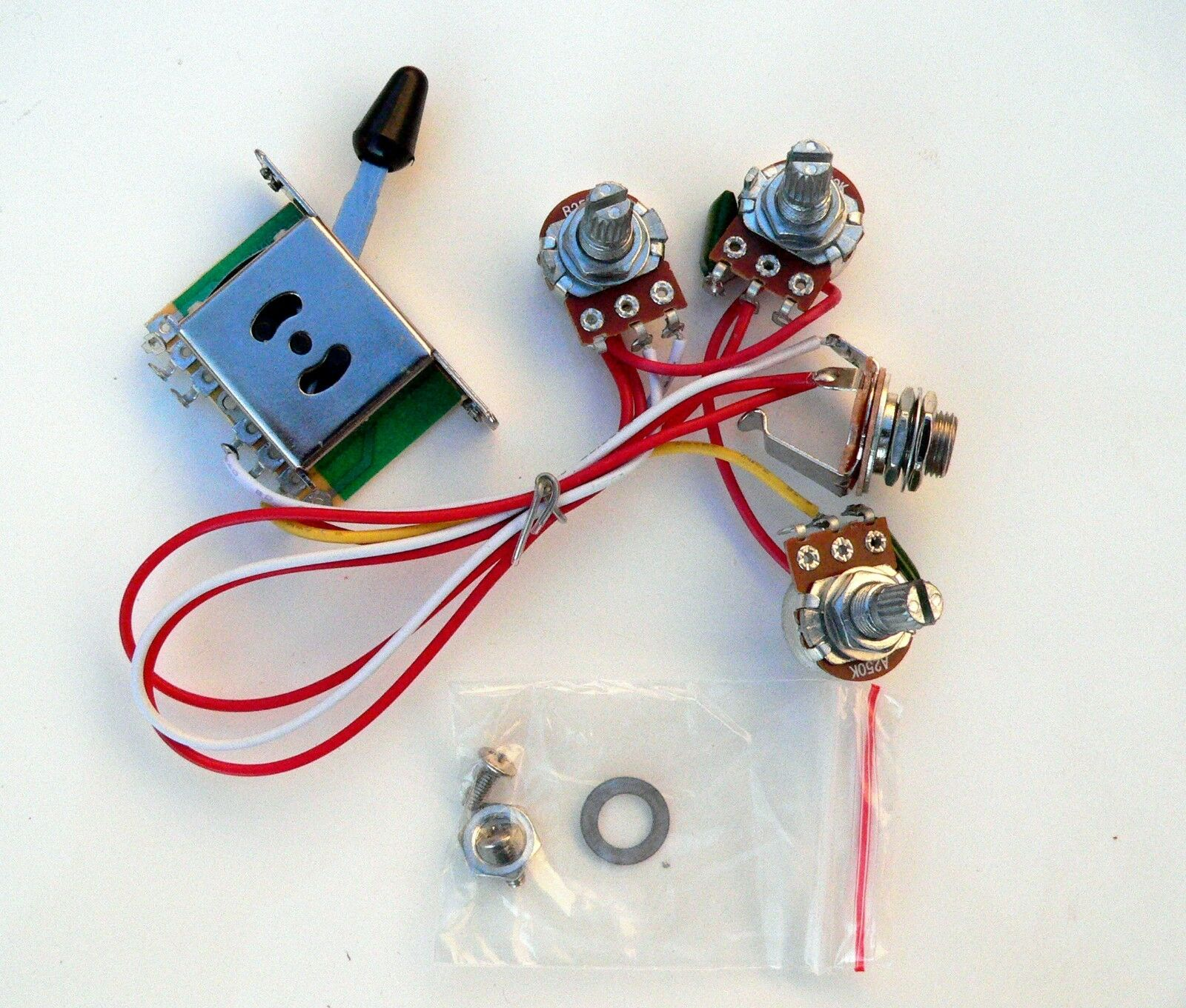 250k 5 Way Wiring Harness For Fender Stratocaster Guitar Sss Single Strat 1 Of 2only 3 Available