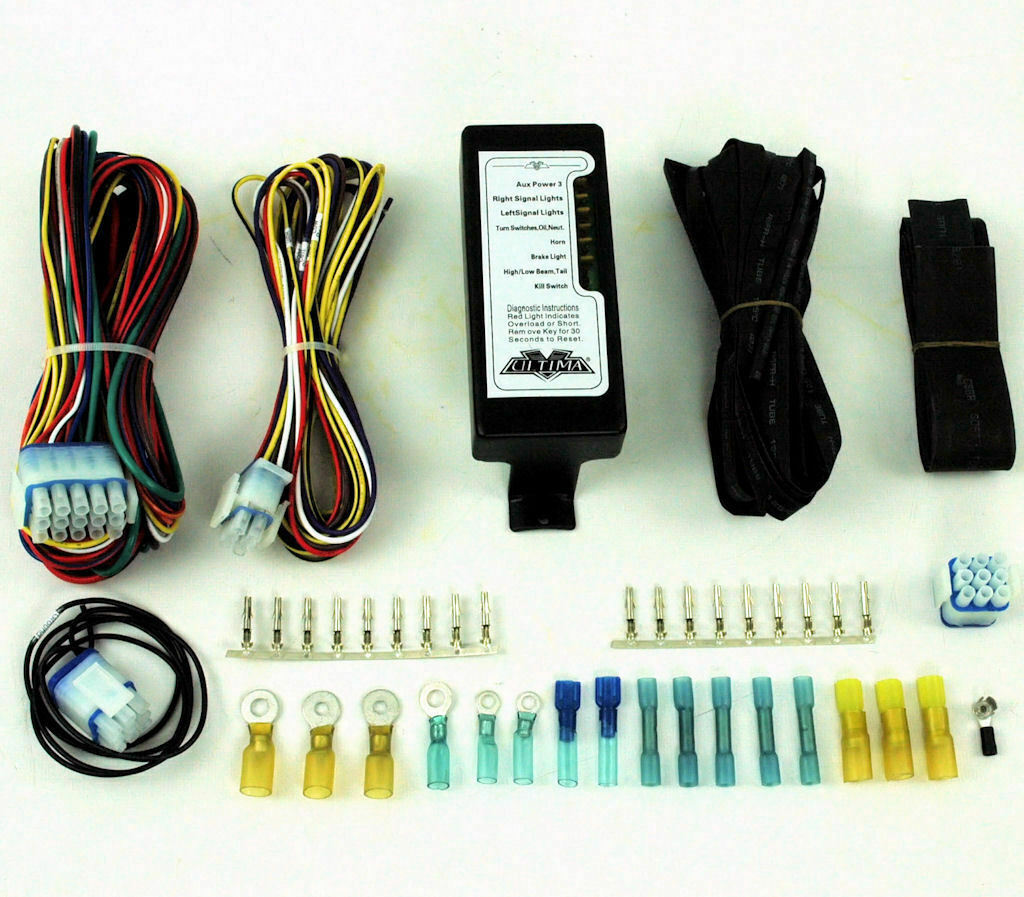 Ultima Complete Led Electronic Wiring Harness System Kit Harley Evo Custom