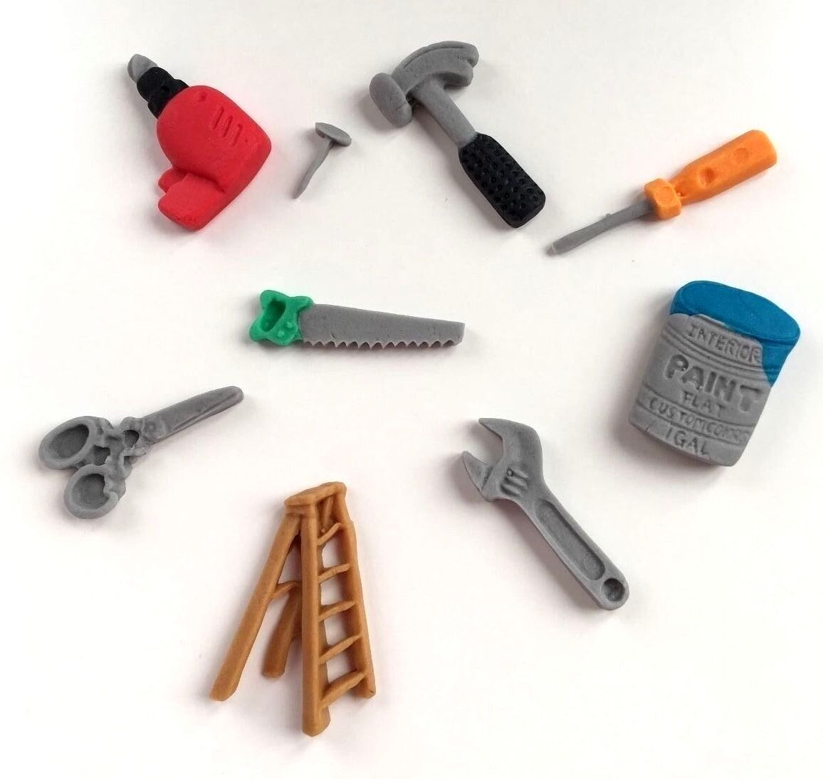 Edible Sugar Bob The Builder Tools For Diy Cake Toppers Birthday