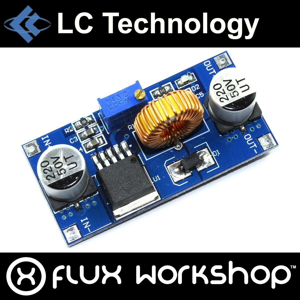 Lc Technology Xl4015 Step Down Adjustable Supply Dc 5v 36v Flux 5a Workshop 1 Of 2only 5 Available