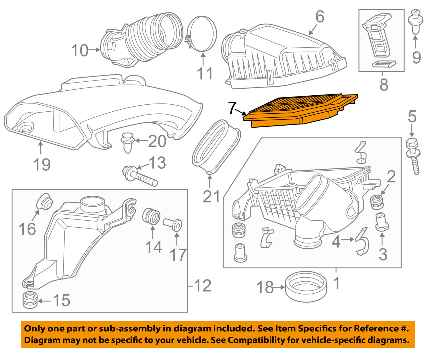 Honda Oem 11 16 Odyssey Engine Air Filter Element 17220rv0a00 2005 Diagram 1 Of 2only 5 Available