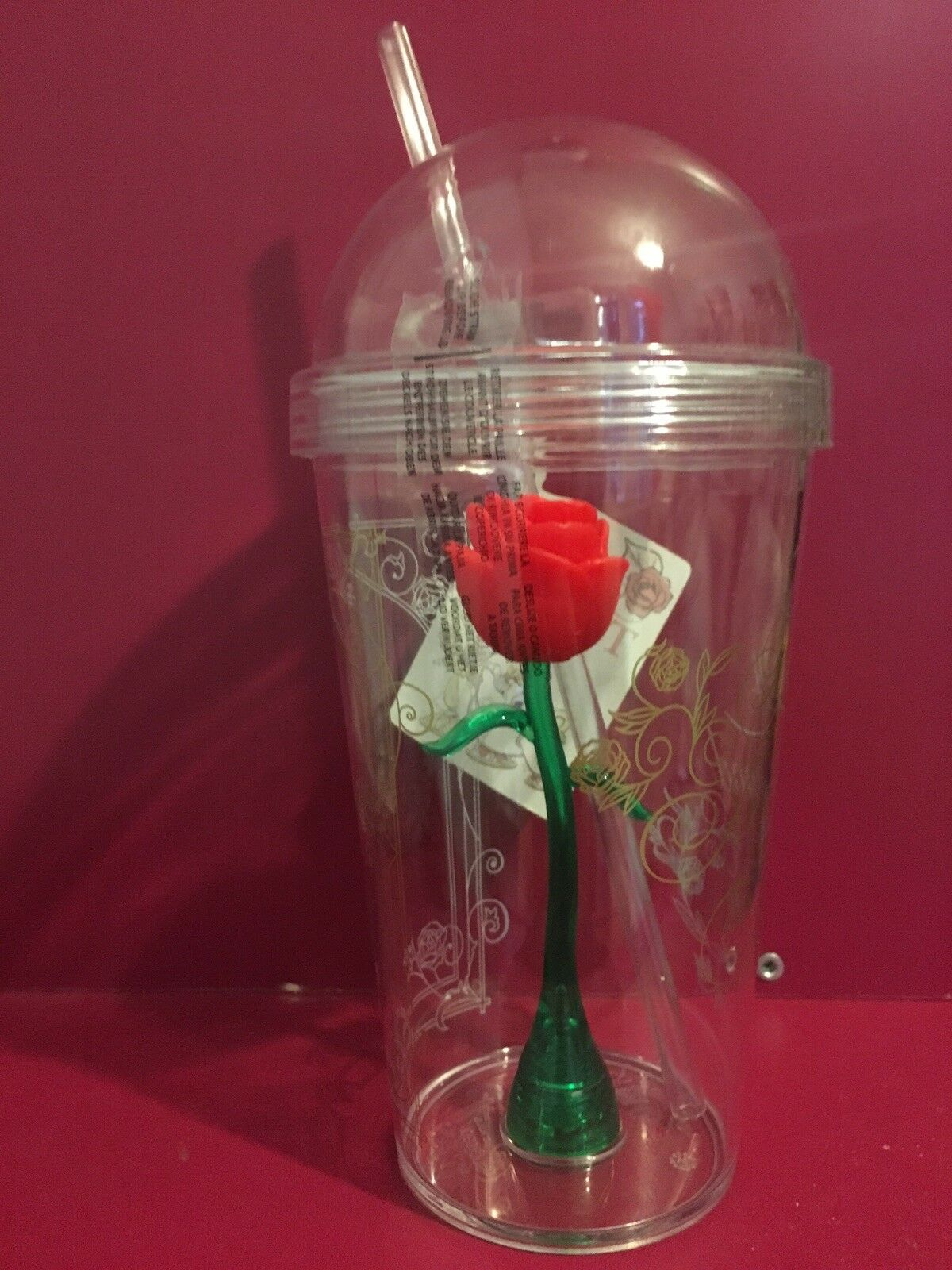Disney Beauty And The Beast Enchanted Rose Tumbler Cup