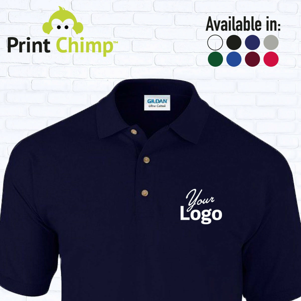 Personalised Polo Shirt Printed With Your Logo Customised Workwear Printing 1 Of 9 See More