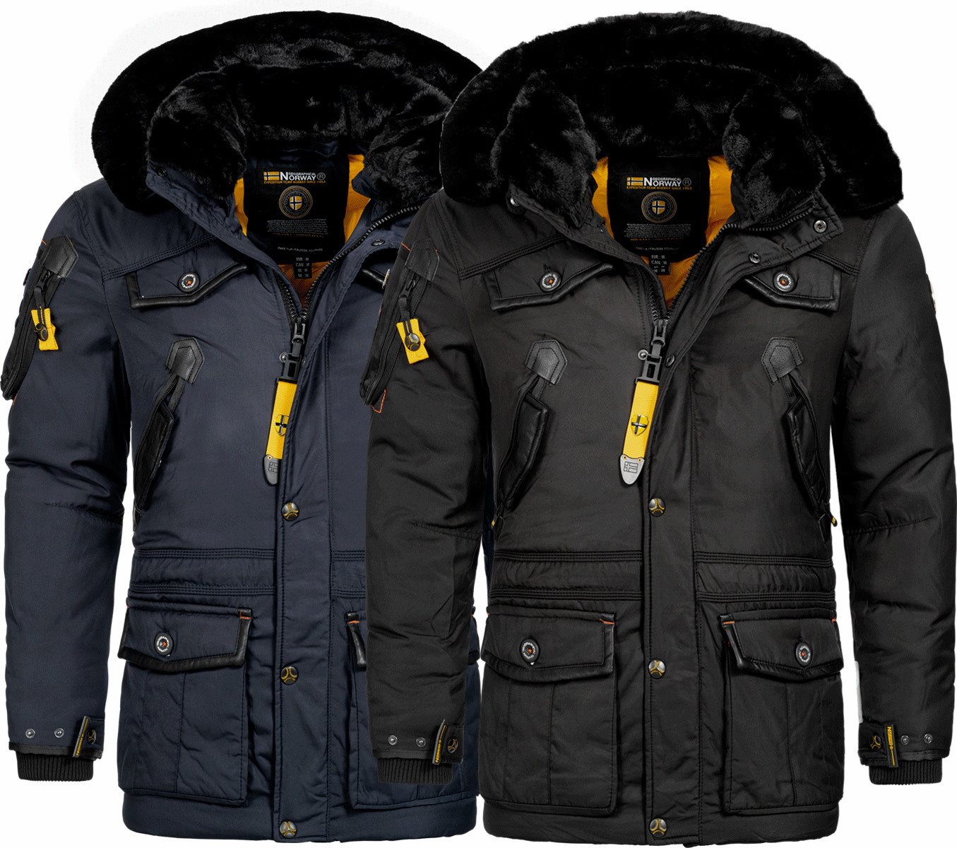 geographical norway luxus warme herren winter jacke parka anorak outdoor mantel eur 149 90. Black Bedroom Furniture Sets. Home Design Ideas