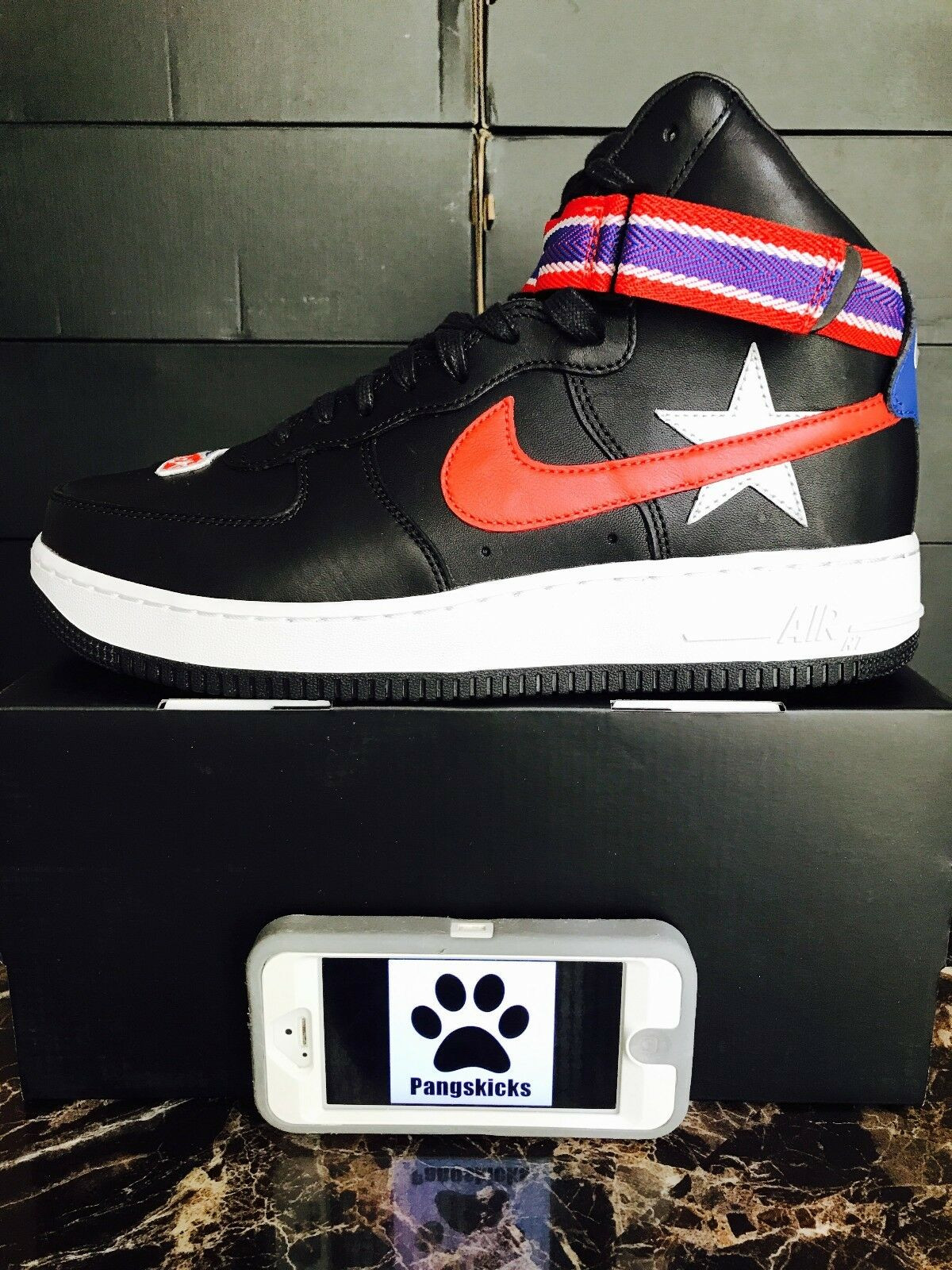 quality design 5f85f a5df7 Nike Air Force 1 High NikeLab x RT Riccardo Tisci Black AQ3366-001 Size 9.5-10  1 of 5Only 2 available ...
