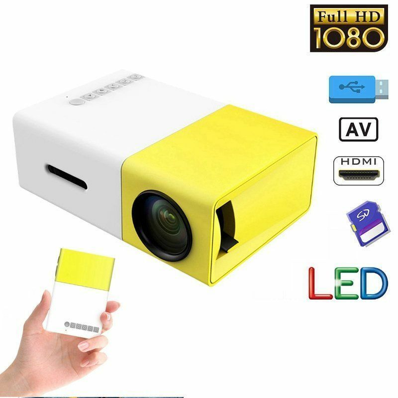 Mini portable led projector hd 1080p home cinema theater for Best small hd projector